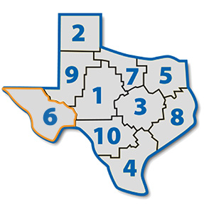Map Of Texas District 6.District 6 Texas Library Association