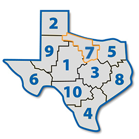 Map Of Texas District 7.District 7 Texas Library Association
