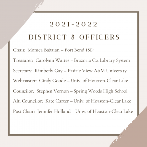 2021 to 2022 District 8 officers
